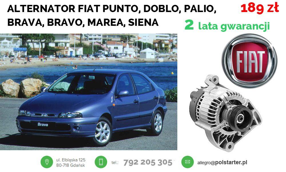 Zastosowanie Fiat Brava 1 2 16v Ps 1998 2001 Bravo 1 2 16v Ps 1998 2001 Marea 1 2 16v 1998 2002 Punto 85 1 2 16v Ps 1997 1999 Siena Fiat Alternator Suv