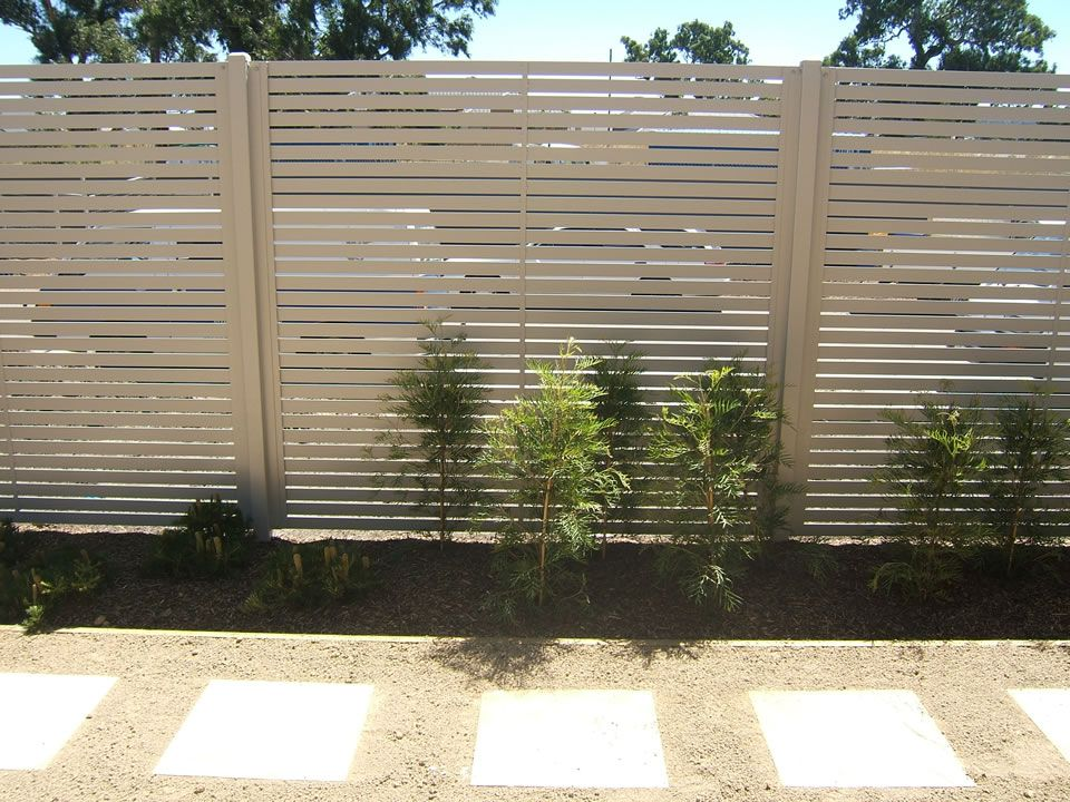 Aluminium Chainwire Colorbond Tubular Weldmesh Glass Picket Slat Fencing Gallery The High House Fence Garden Fencing Gallery