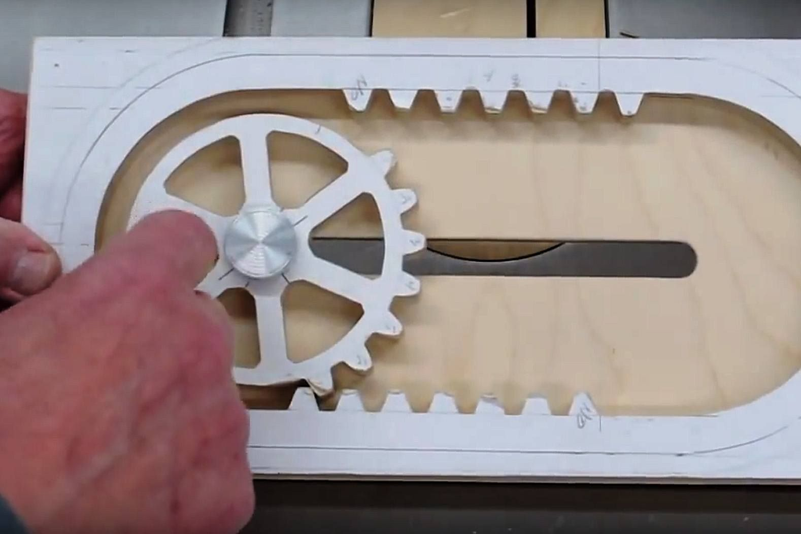How It S Made A Wooden Reciprocating Rack And Pinion My