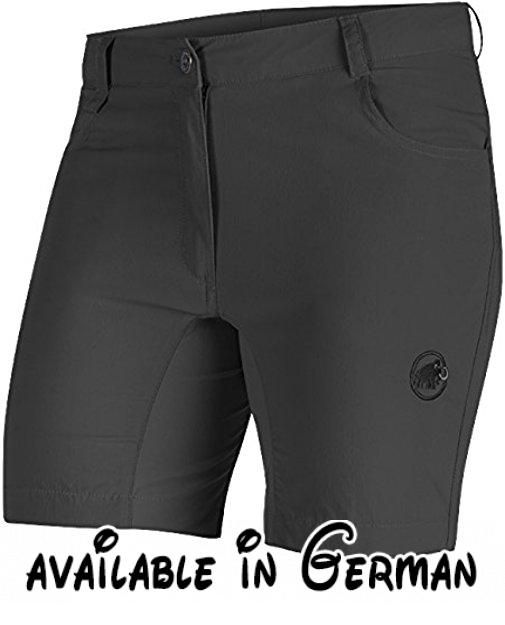 Mammut Runbold Light Shorts Women Größe 44 graphite. Material: Polyamide Stretch, 94 % Polyamid, 6 % Elasthan, mit dauerhaft wasserabweisender DWR-Ausrüstung. UV-Schutzfaktor (USF): 40+. Teilmaterial: Woven Stretch, 70x70d, 85 % Polyamid, 15 % Elasthan. UV-Schutzfaktor (USF): 30+. PFC-frei #Sports #SPORTING_GOODS