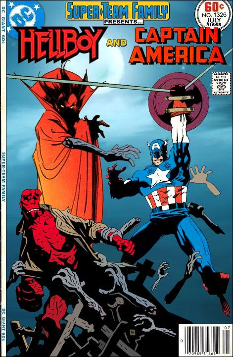 Super-Team Family: The Lost Issues!: Hellboy and Captain America