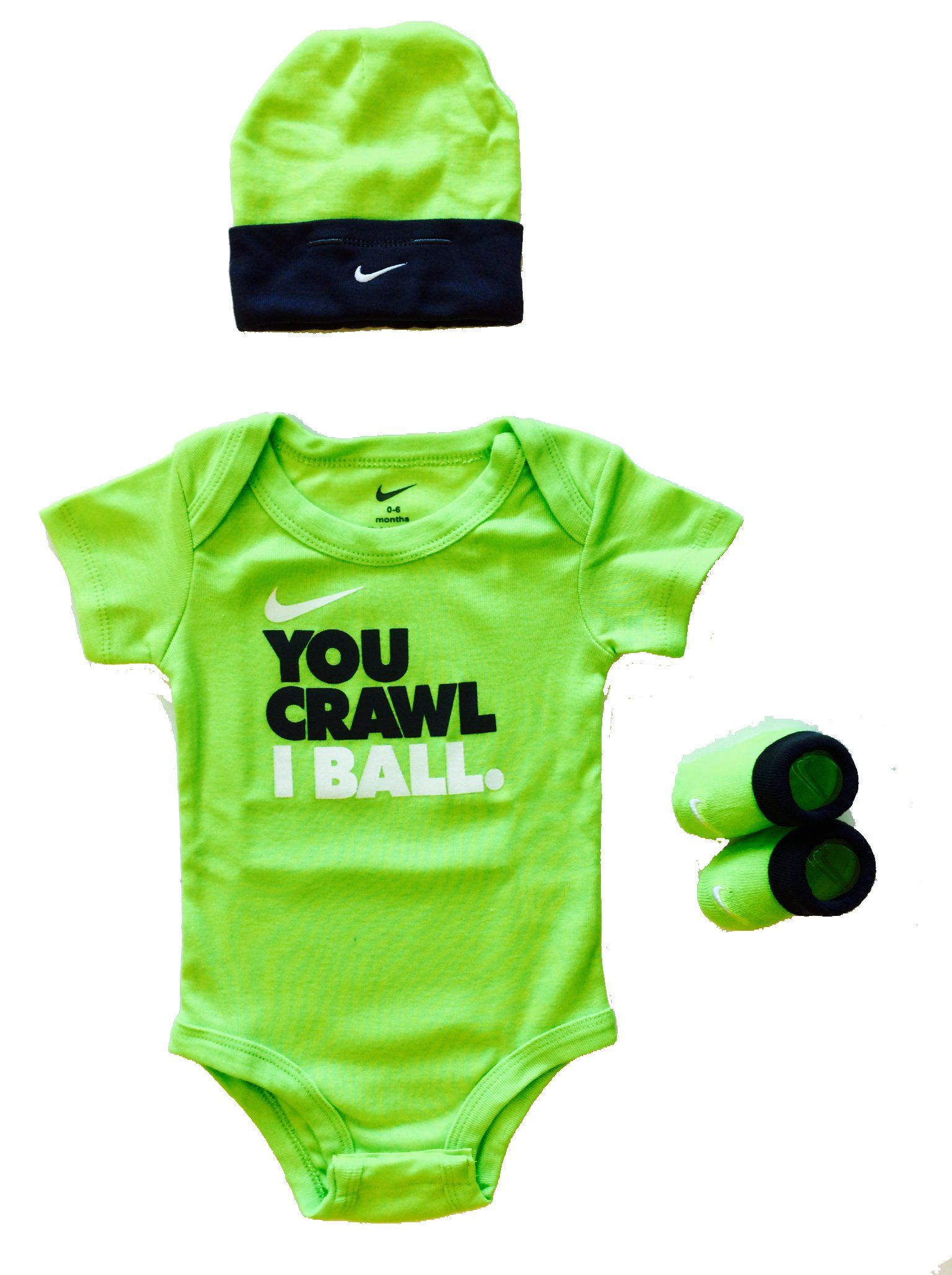 Nike Baby Clothes You Crawl I Ball 3 Piece Set (0-6m)