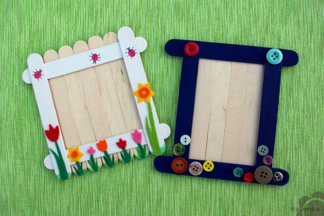 Craft stick frames | CRAFT STICKS | Pinterest | Palitos de helado ...