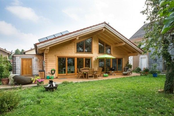 Chiemgau Holzhaus Log Home Chiemgau | Blockhaus Chiemgau | Blockhaus, Haus ...