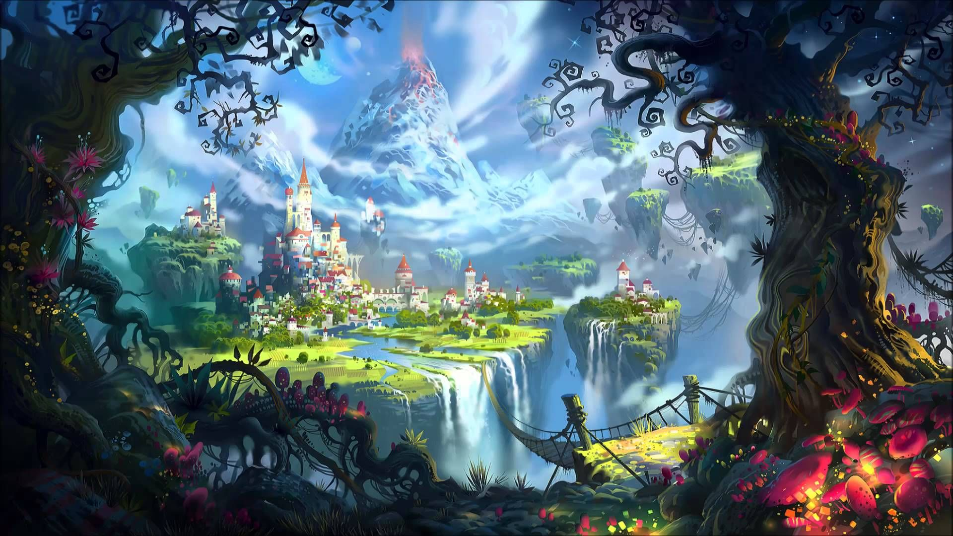 Fantasy World Creation Fantasy Landscape Fantasy Artwork Anime
