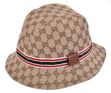 9007ecda1ba Get the lowest price on GUCCI GG Guccissima Web Stripe Fedora Bucket Hat XL  NEW and other fabulous designer clothing and accessories! Shop Tradesy now