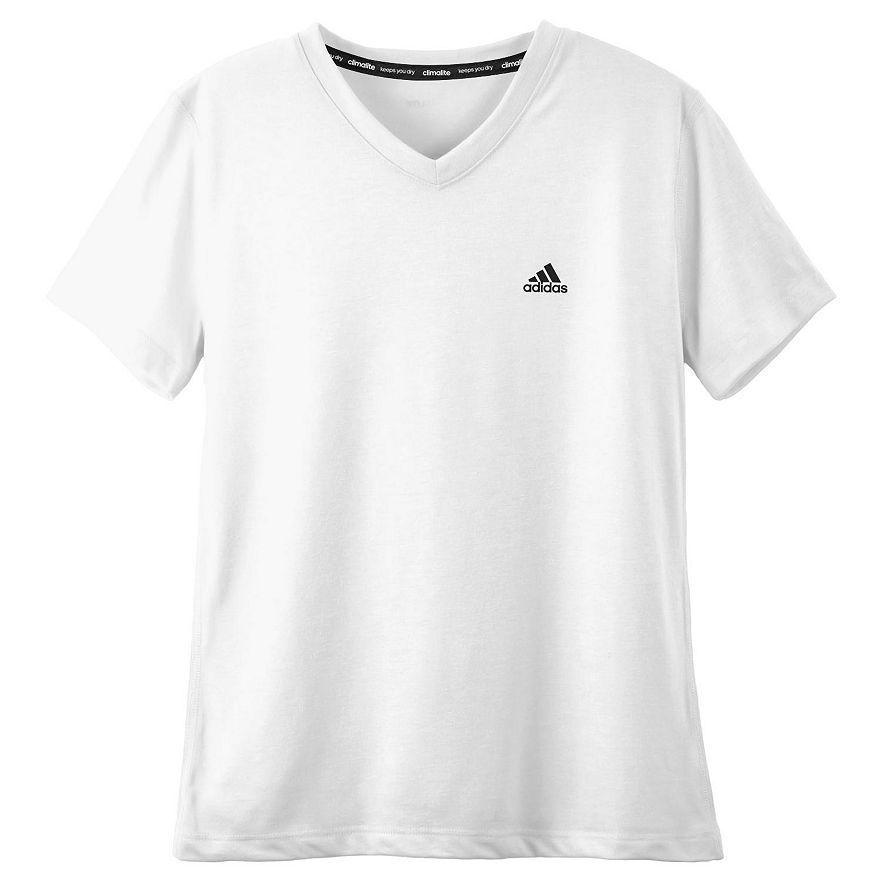 ae8c12be Adidas Climalite Shirt Youth Girls sz L White NWT Athletic V Neck Tee Large  14 #adidas #Everyday
