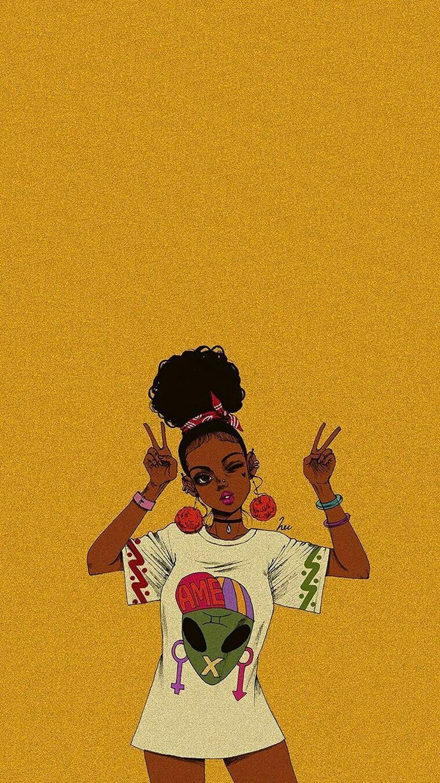 Aesthetics Goddess Black Girl Magic Iphone Wallpaper