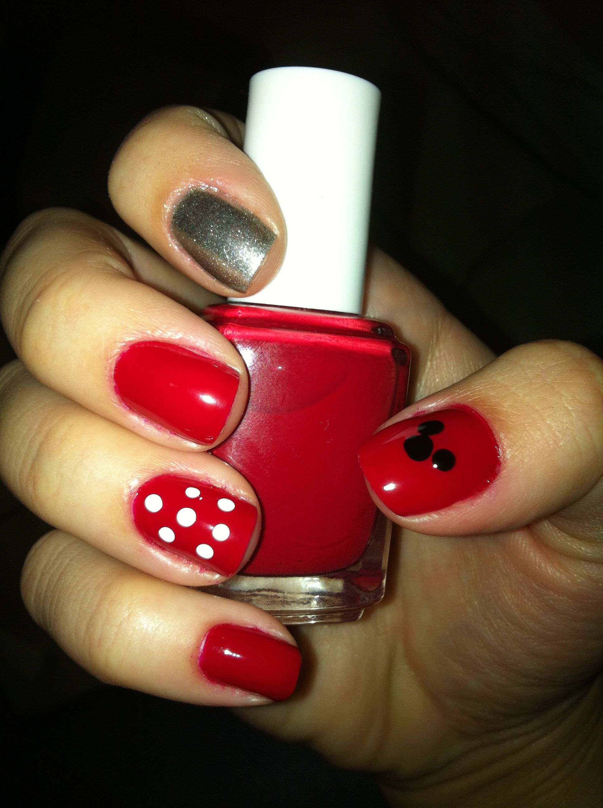 Disney nails- I bet we could do this ourselves! @Delana Hunt ...