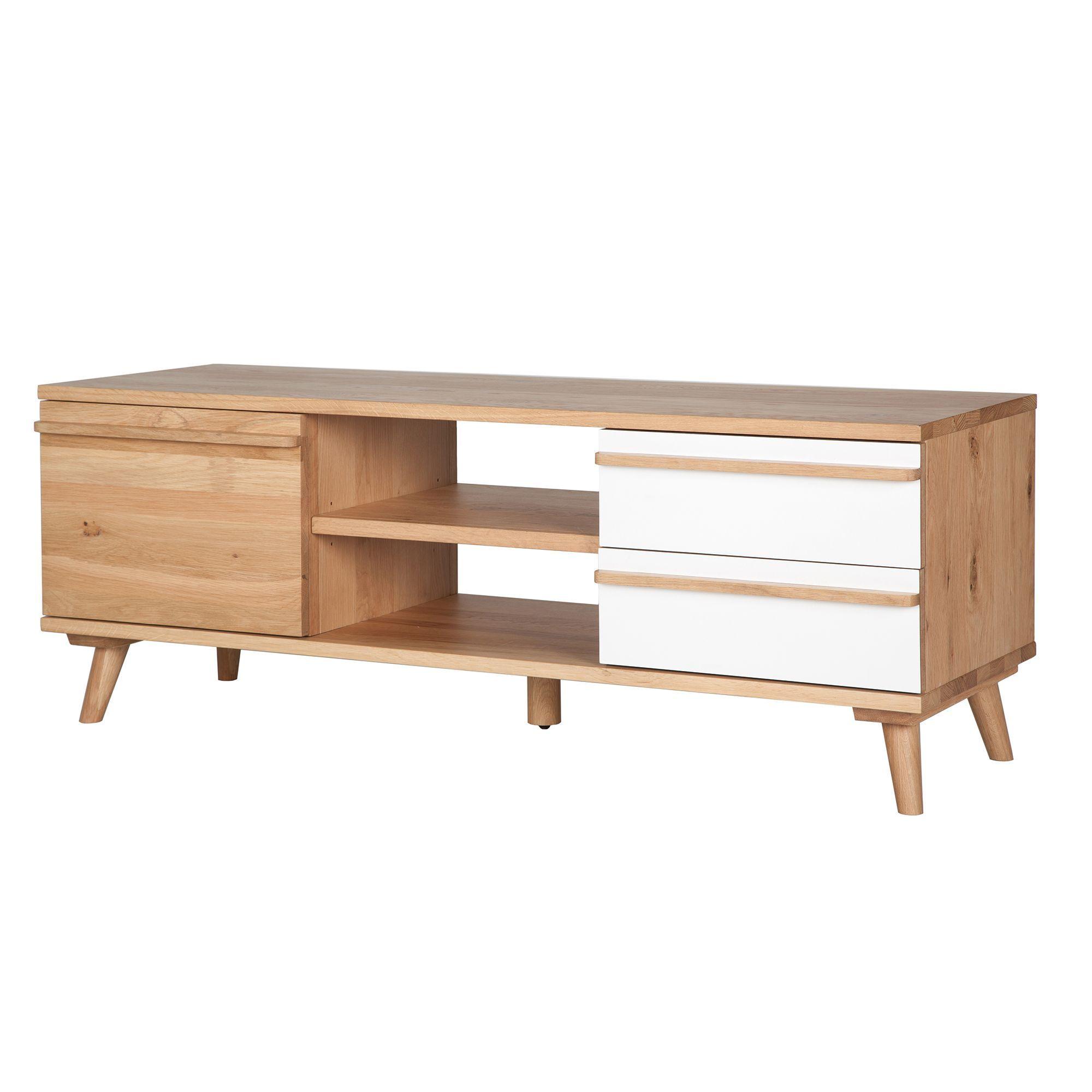 meuble tv 1 porte et 2 tiroirs ch ne et formica naturel skandy alin a 459euros longueur. Black Bedroom Furniture Sets. Home Design Ideas