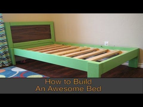 b12024c65aa59 How to make the best heavy duty bed frame with less than 15 dollars -  YouTube
