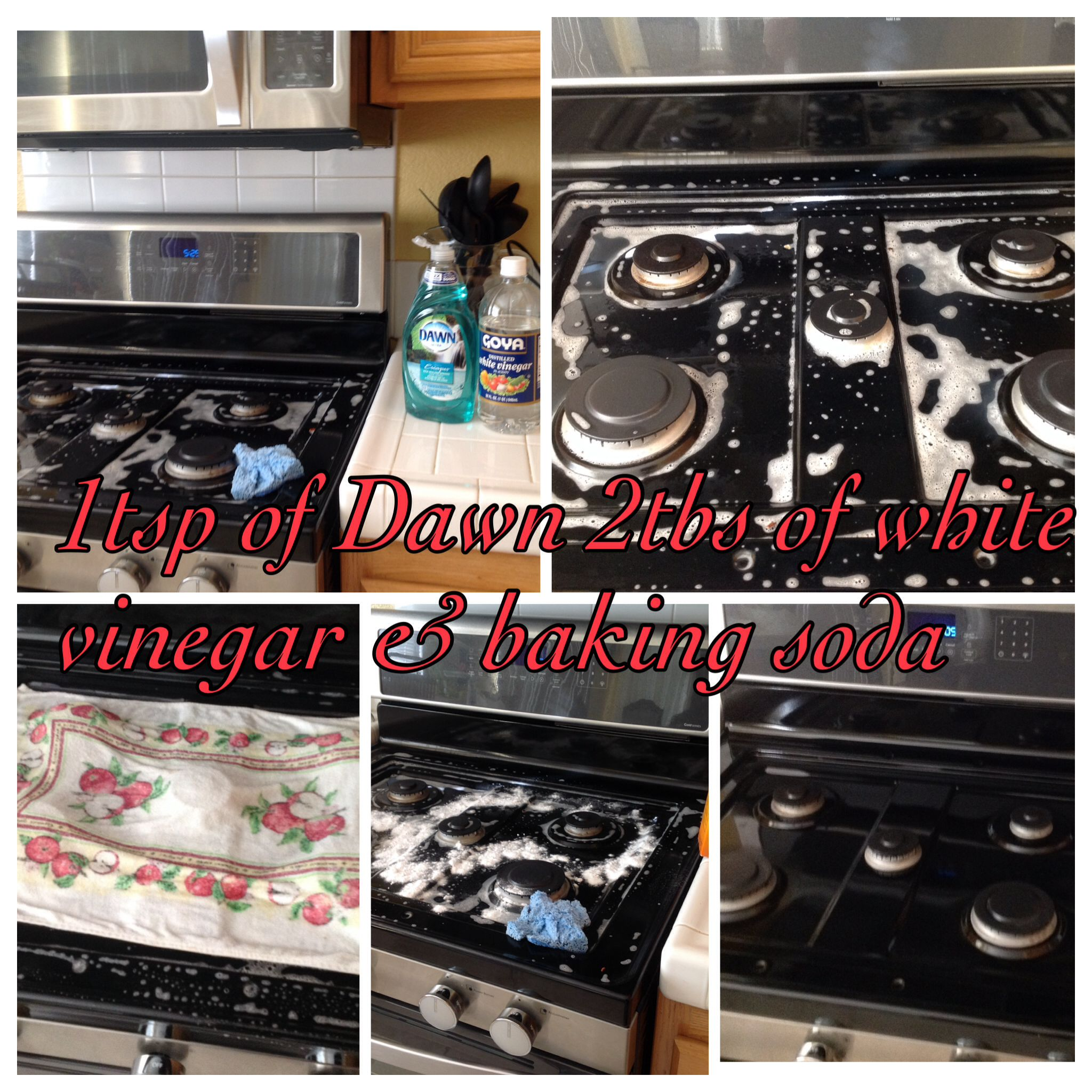 How To Clean Black Range Stove Top. Mix 1tsp of Dawn and 2 Tbsp of ...