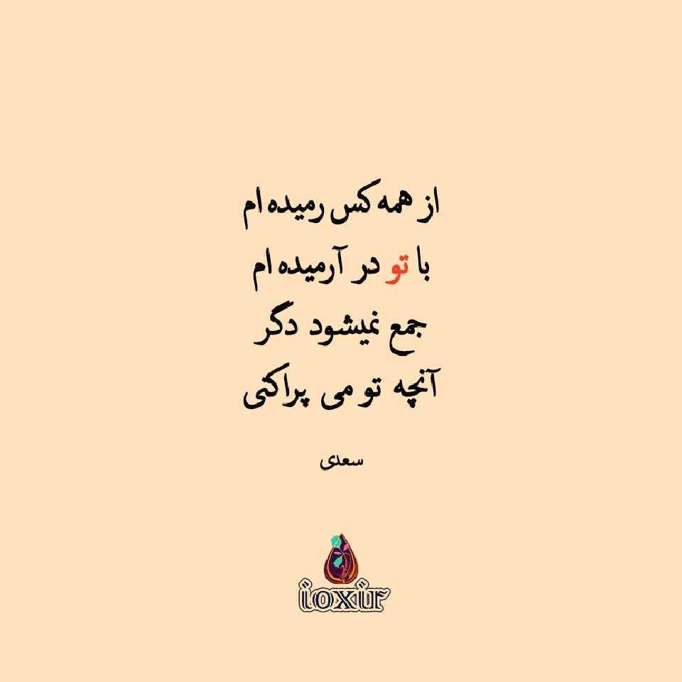 سعدی شعر Persian Quotes Persian Poetry Farsi Poem