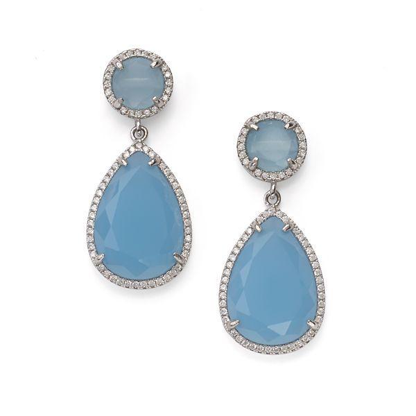 Sterling Something Blue Earrings By Lenox
