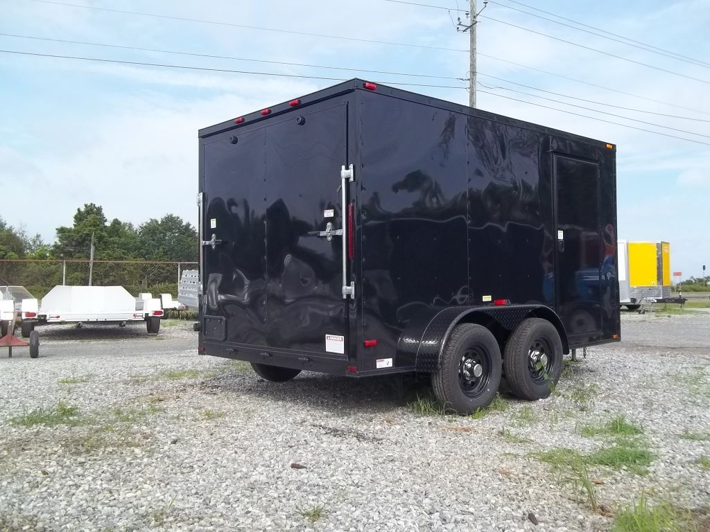 blacked out 7 x 12 enclosed trailer Best trailers