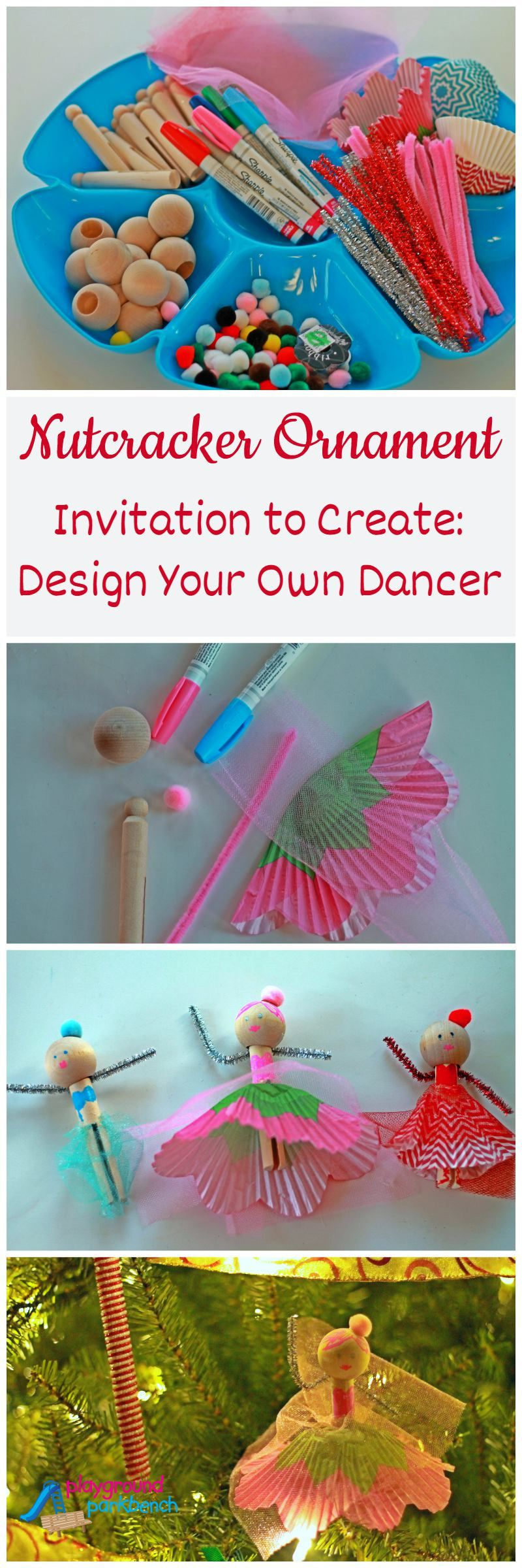 Design your own christmas ornaments - The First Post In A Series To Plan The Perfect Nutcracker Holiday Party This Invitation To Create Is The Perfect Activity For Your Kids Holiday Party