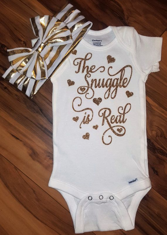6ff6fc282 Baby Girl Onesie, The Snuggle Is Real Onesie, Baby Girl Outfit, Funny Onesie,  Gold Glitter Onesie, Baby Onesie, Baby Shower Gift