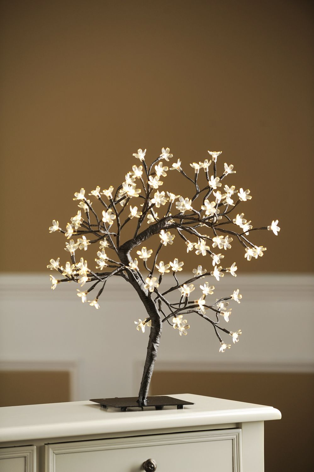 Bring The Beauty Of Nature Indoors With The Pre Lit White Cherry Blossom Tree Plug In This Charming Tree To White Cherry Blossom Blossom Trees White Cherries