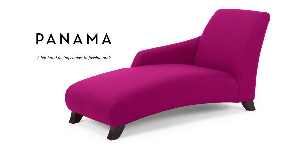 Panama Left Hand Facing Chaise In Fuschia Pink