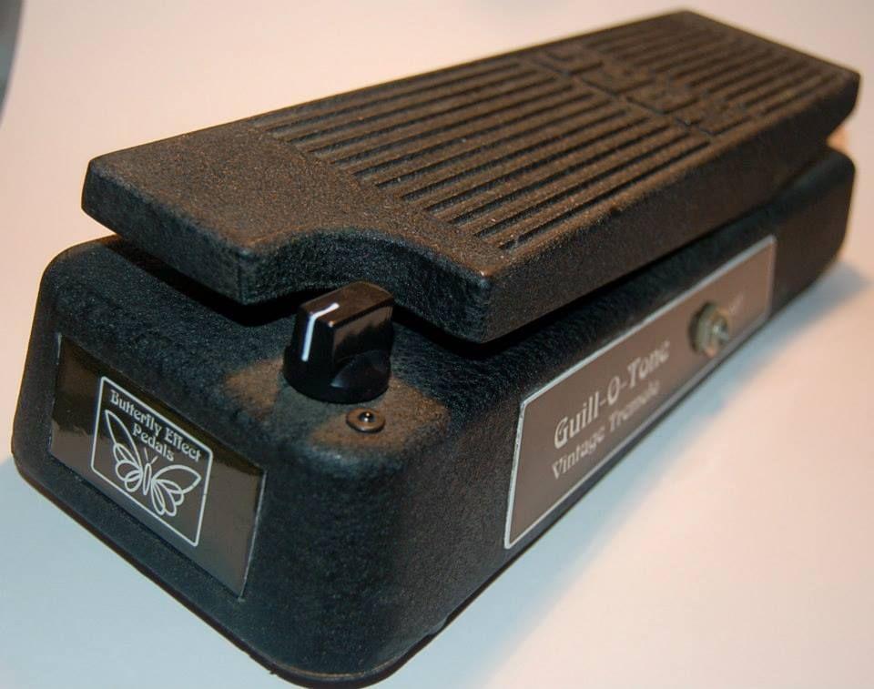 Custom Guill-O-Tone vintage tremolo in a treadle enclosur by
