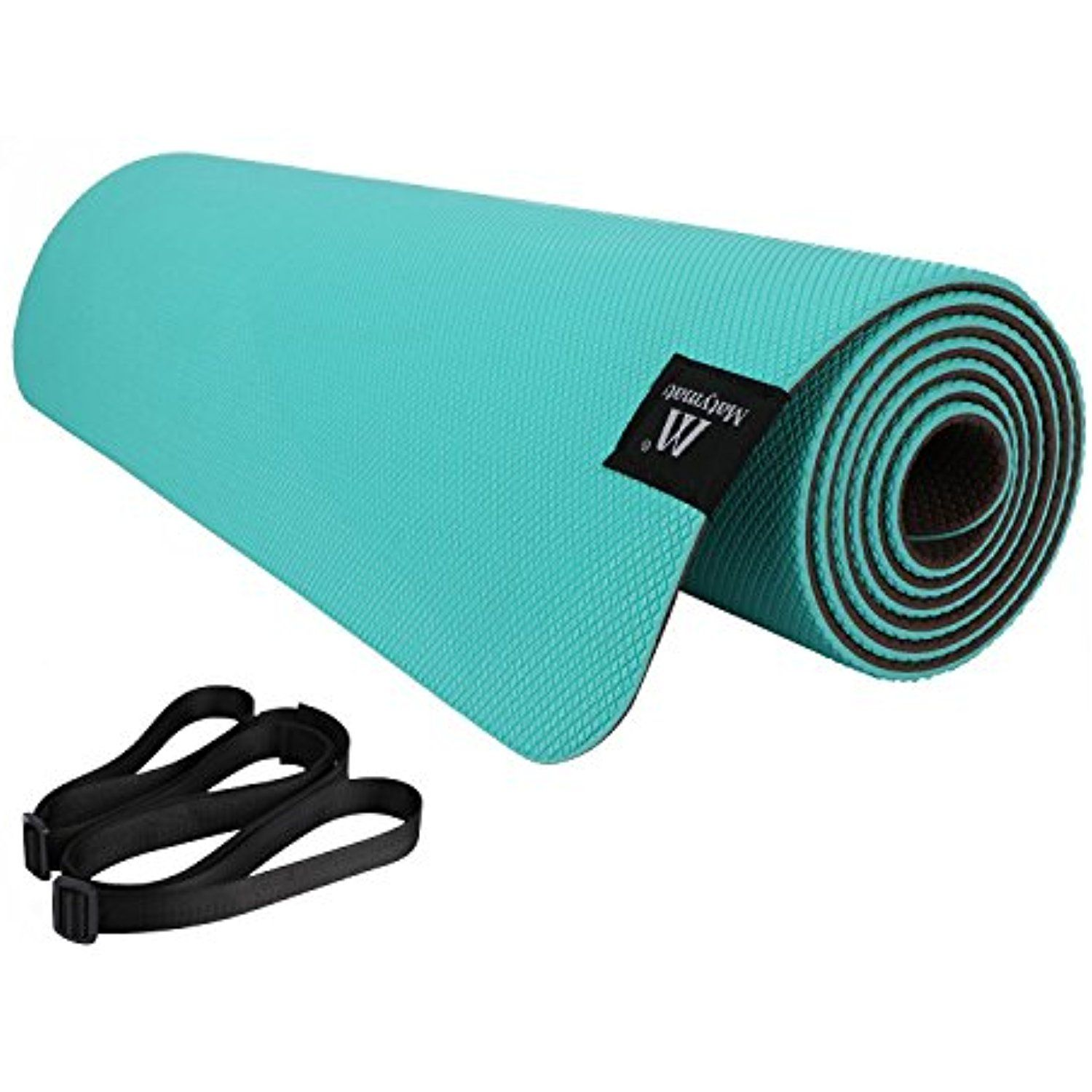 equipment mat out work non thick komodo black exercise mats slip sports yog gym workout