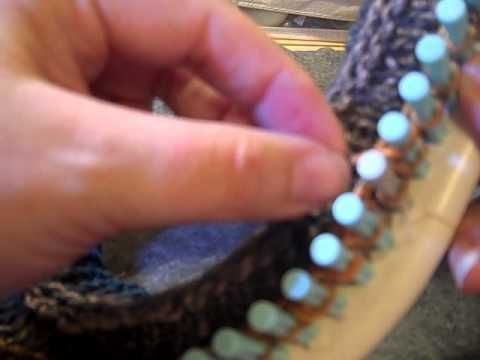 Christel Burtillet's Loom Knit Hat - Part 2 - YouTube
