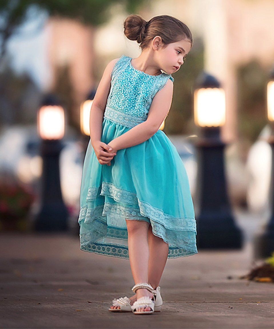 Take a look at this Light Blue Delphine Hi-Low Dress - Infant ...