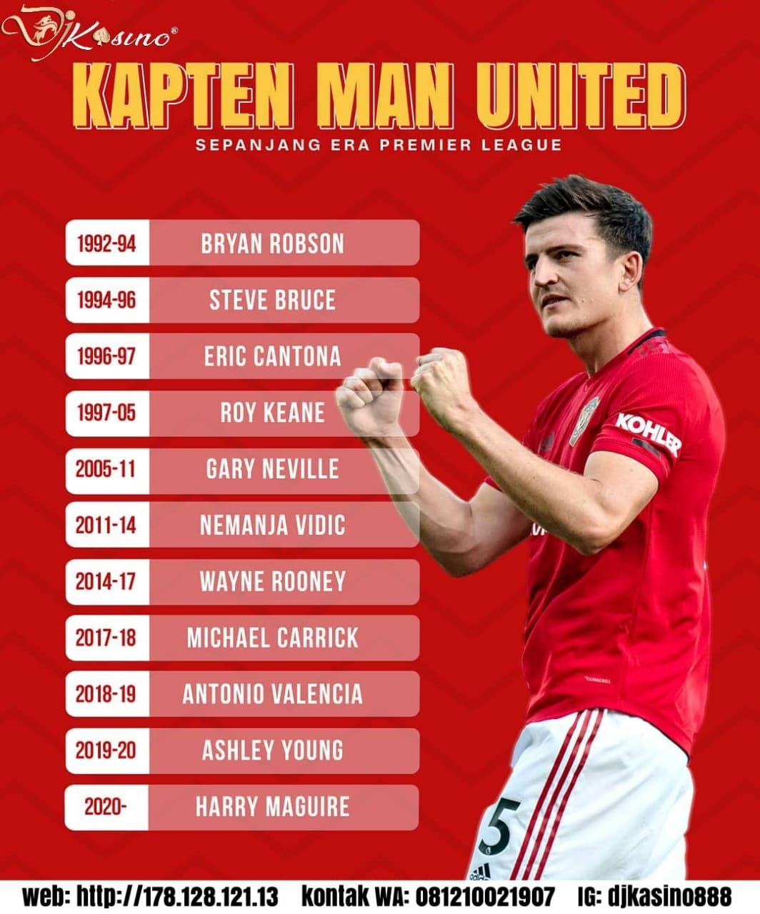 kapten Harry Maguire ditunjuk sebagai Manchester United ...