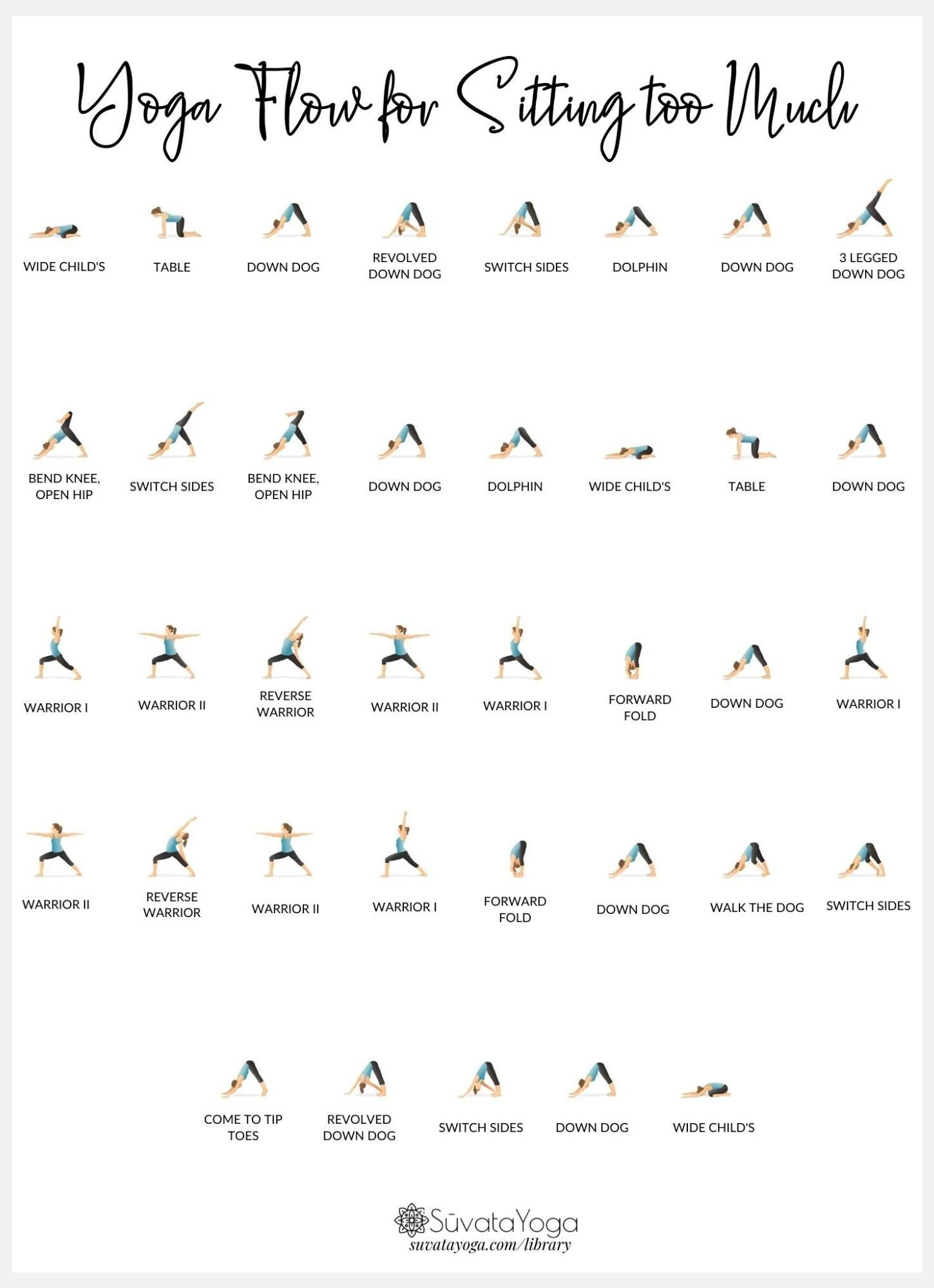 Printable Yoga Flow