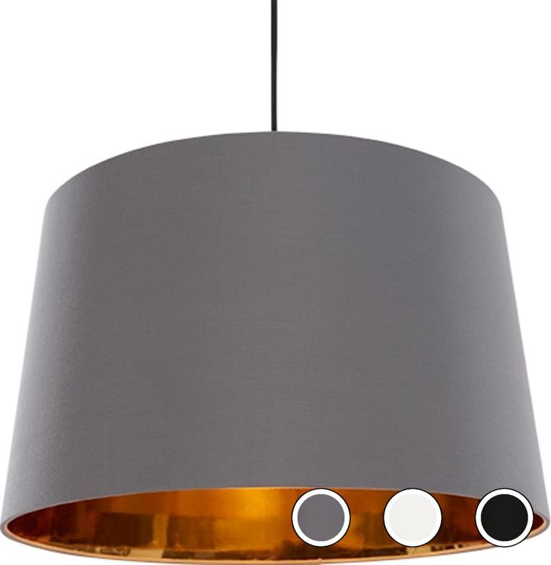 Hue Extra Large Tapered Pendant Shade Grey And Copper From Made Com Express Delivery Living Room Pendant Light Copper And Grey Kitchen Large Pendant Lighting