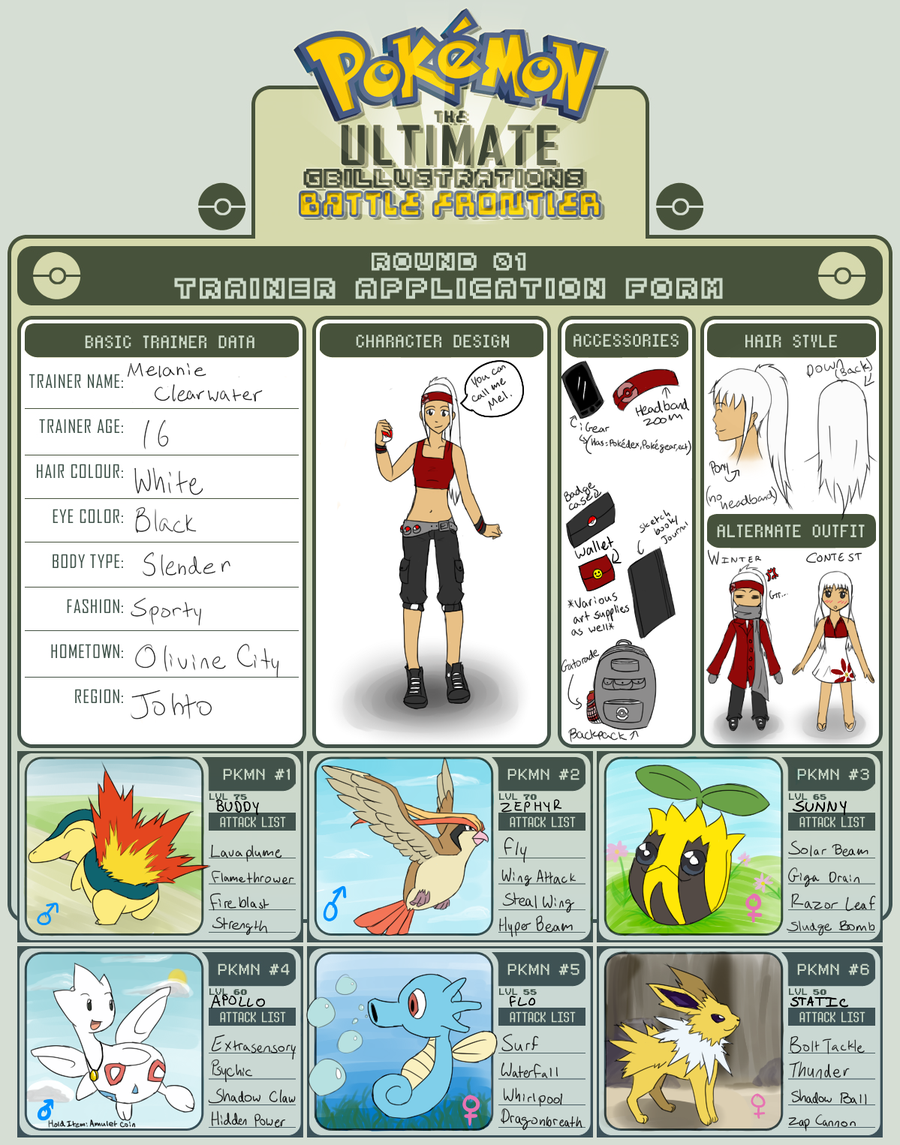 Pokemon Trainer Ref Sheet By Fudgenugget On Deviantart Pokemon Character Design Battle
