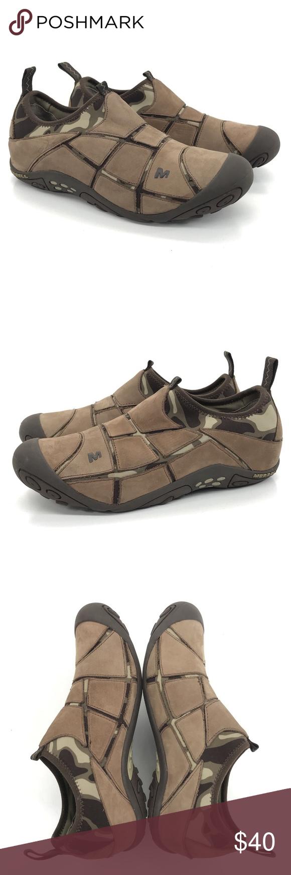 31eb48695d7d0 22 MERRELL Shoes Size 8 Mosaic Camo Nylon Leather MERRELL Shoes Size 8 Mosaic  Chocolate Brown