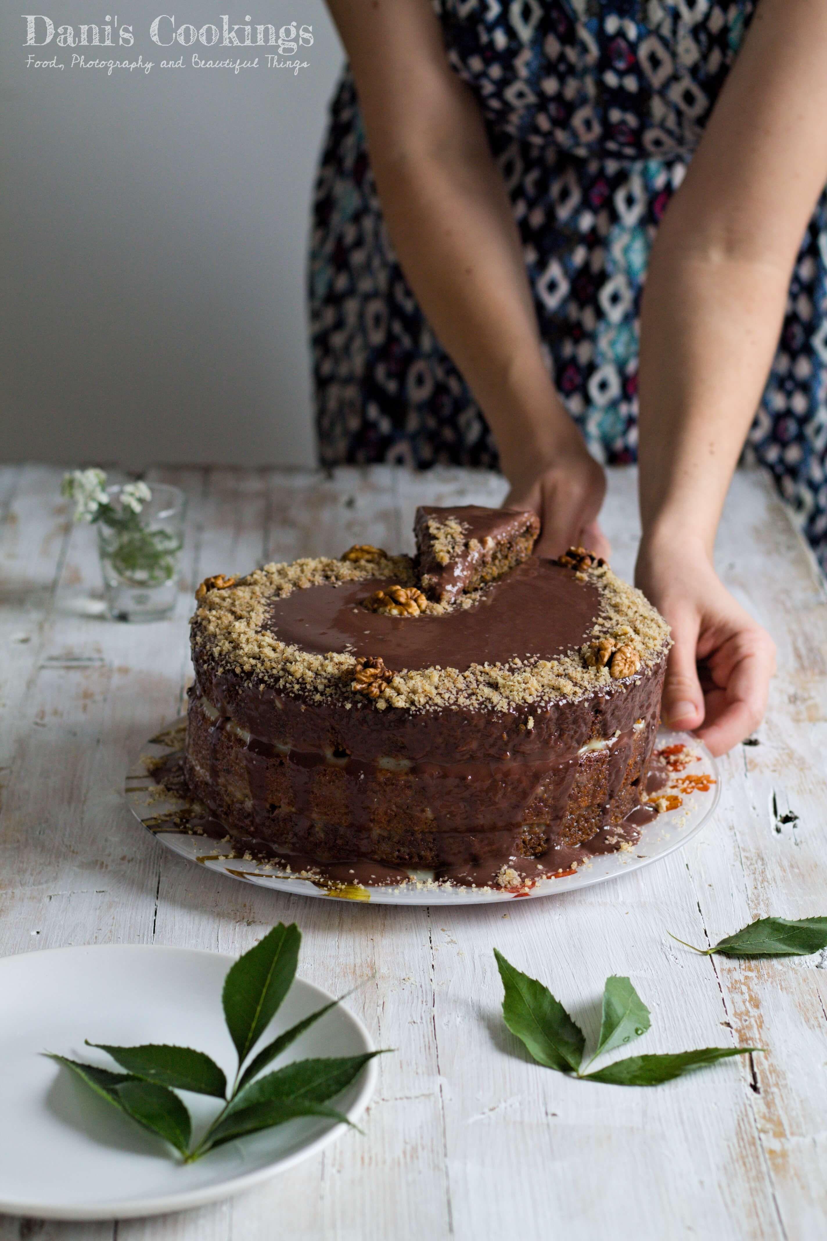 Old fashioned walnut cake recipe cake savoury baking