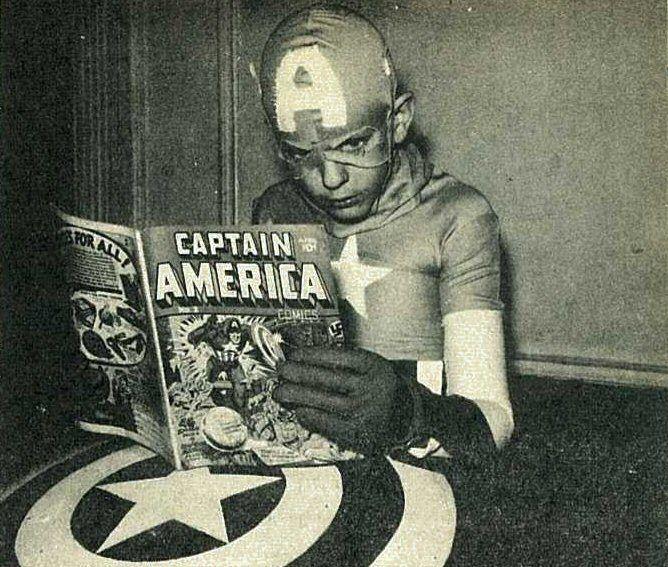 1969:+Captain+America+reading+Captain+America