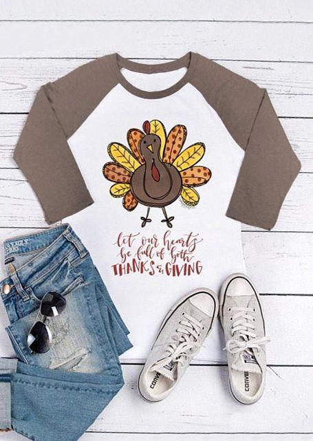 Thanksgiving Turkey O Neck Baseball T Shirt In 2020 Turkey Shirts Baseball Tshirts Plus Size T Shirts