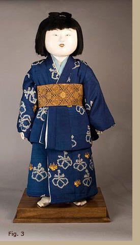 Edo Period,18th C.  japanese doll
