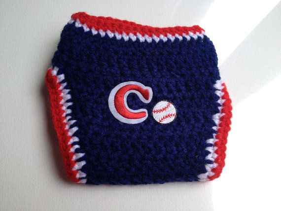Cleveland Indians Crochet Baby Diaper Cover  on Etsy, $10.00
