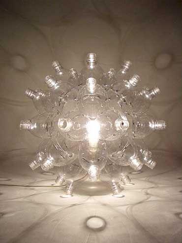 lampe abcycling pashion aus pet flaschen wird mode. Black Bedroom Furniture Sets. Home Design Ideas