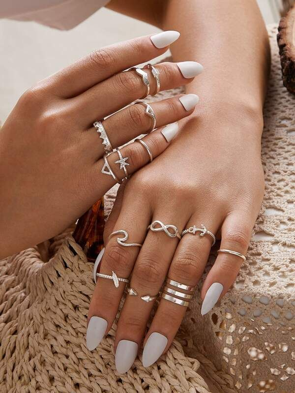 14pcs Skinny Ring Pack | SHEIN USA