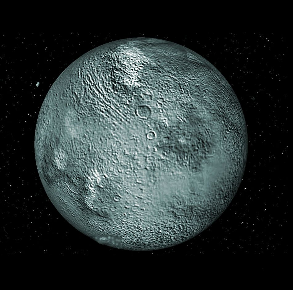 Eris -- a dwarf planet that lies in the outer reaches of ...