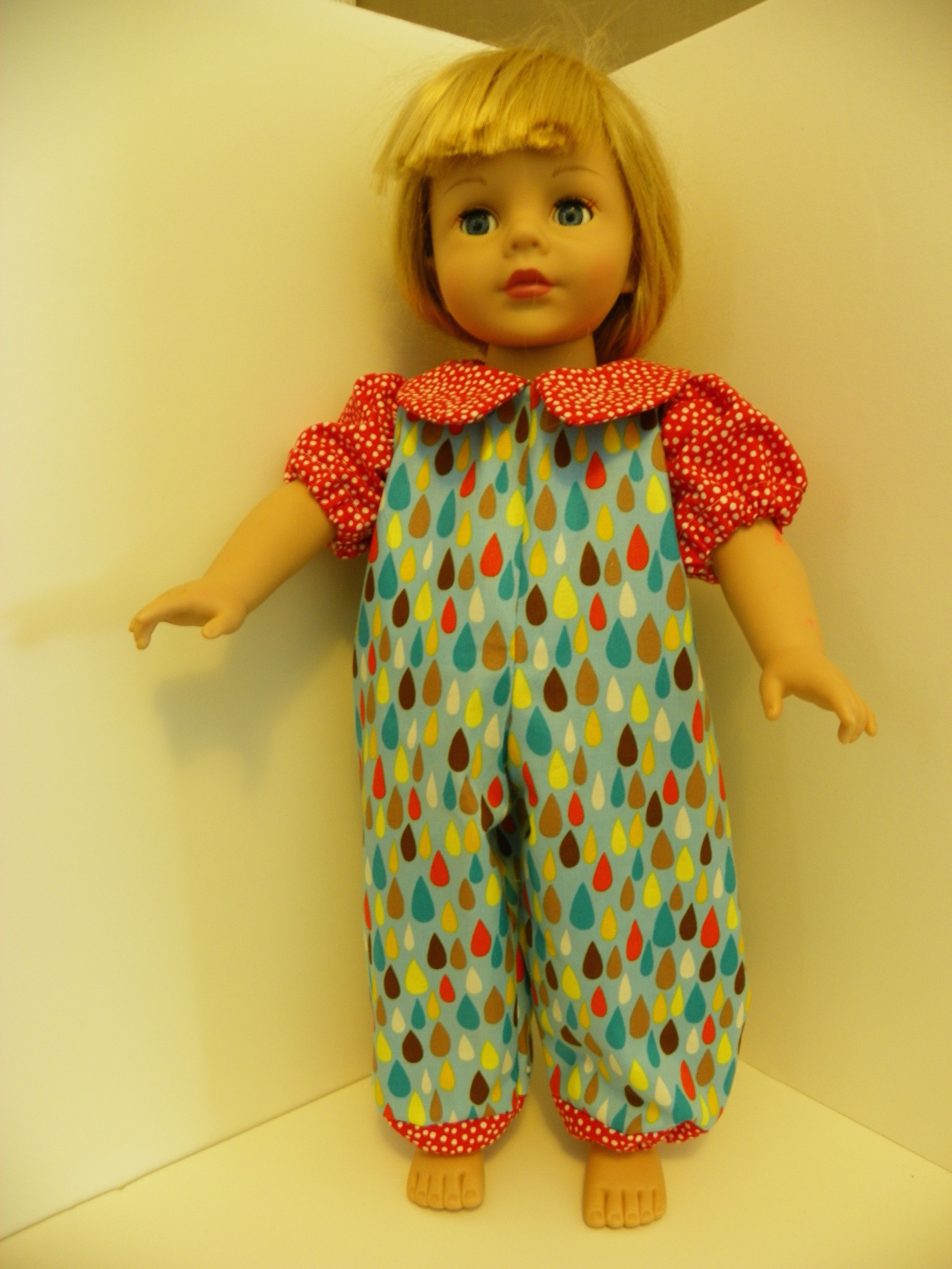 "Summer play outfit for the 18"" doll"