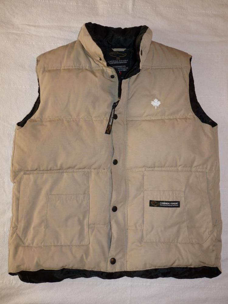 6466da0f40 ... Goose Tan Men s S Freestyle Crew Down Vest Maple Leaf Expedition  Clothing  fashion  clothing  shoes  accessories  mensclothing  coatsjackets  (ebay link)