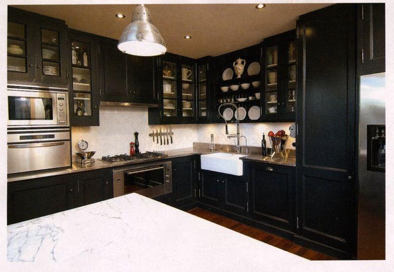 Kitchen, Dark Cabinets