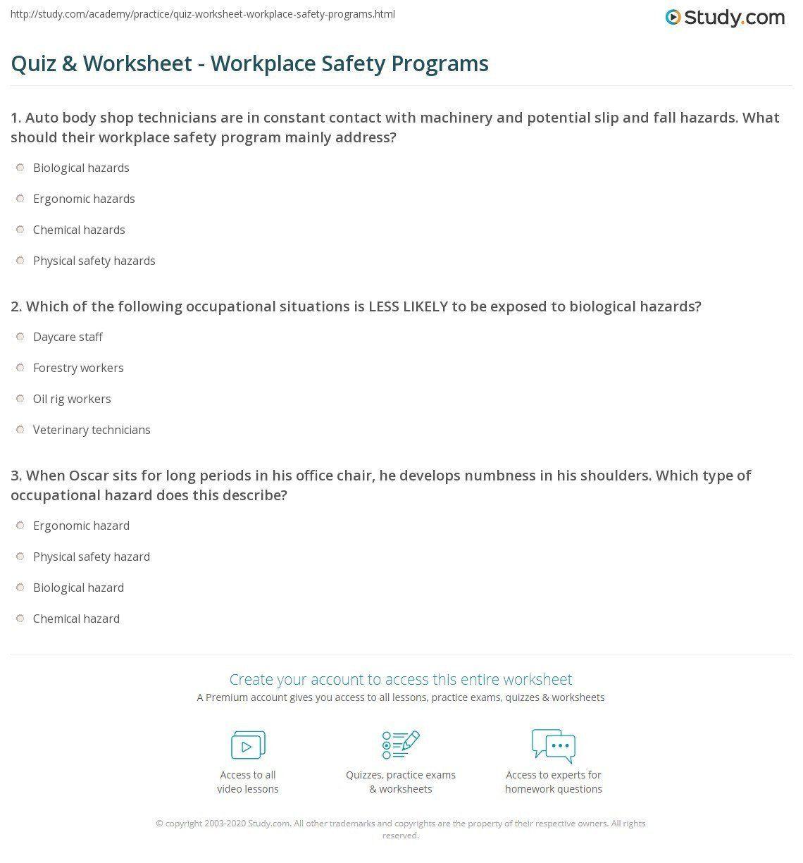 Safety Signs Worksheets For Kindergarten Work Safety