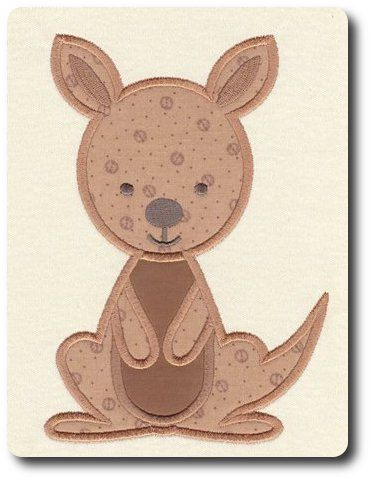 Applique Kangaroo Machine Embroidery Design By 8clawsandapaw 195