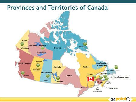 Unique map games using maps of Canada Hear the names of provinces