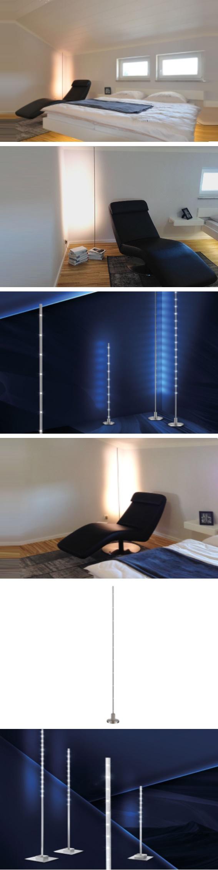 licht-trend stehleuchte »stick led-stehleuchte mit futuristischem ... - Led Design Wohnzimmer