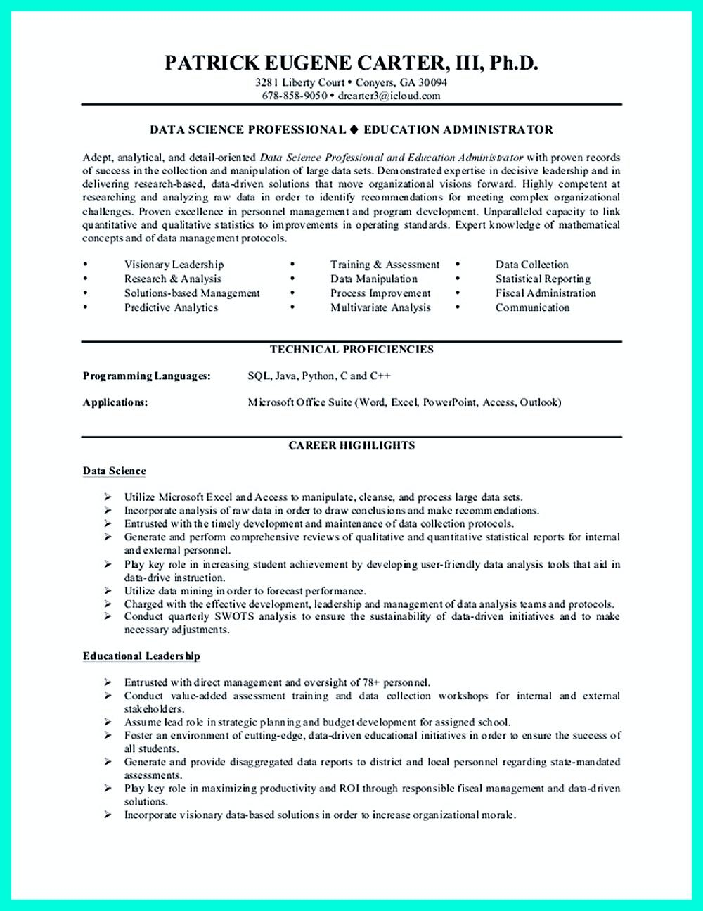 Data Analyst Resume Template. Junior Data Analyst Cover Letter Job ...