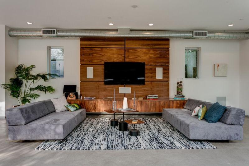 tv wandhalterung und wohnwand aus laminat wohnwand pinterest. Black Bedroom Furniture Sets. Home Design Ideas