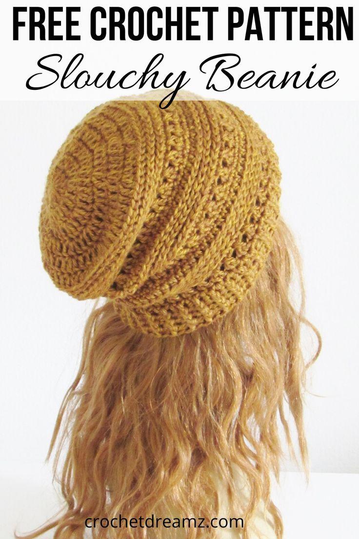 Crochet Beanie Tutorial, Free Crochet Pattern #crochethatpatterns